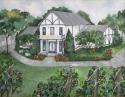 Beach Haven Winery located in Clarksville, TN where Jazz on the Lawn is a special summer event. Original Painting by Gail Meyer. Best wine in the south.