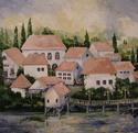 Painting-Tuscan Village II