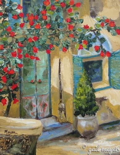 Painting--Acrylic-LandscapeTuscan Garden Door