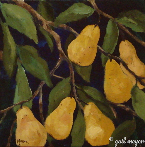Golden Pears (large view)