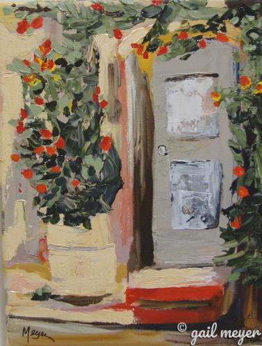 Painting--Acrylic-LandscapeCottage Door