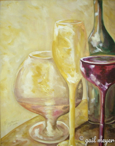 Painting--Acrylic-Still LifeWine Delights