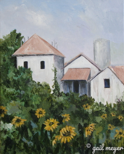 Caillebotte's Sunflowers in the Garden (large view)