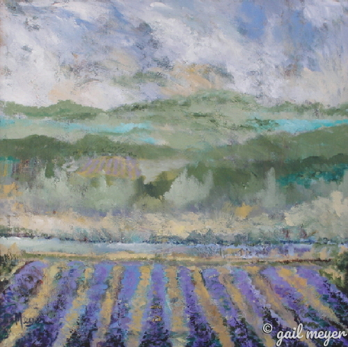 Painting--Acrylic-LandscapeCalifornia Vineyard