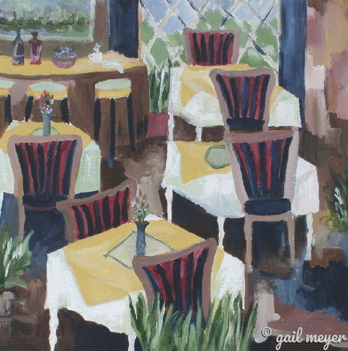 Painting--Acrylic-Still LifeLes Fauves Bistro