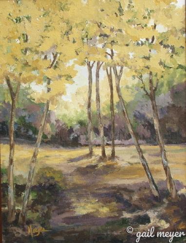 Painting-Golden Poplars