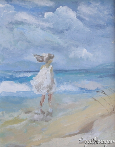 Painting--Acrylic-ImpressionismBeach Walk