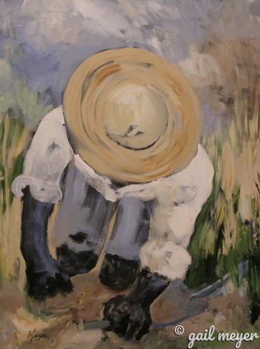 Painting--Acrylic-FigurativePlanting Time