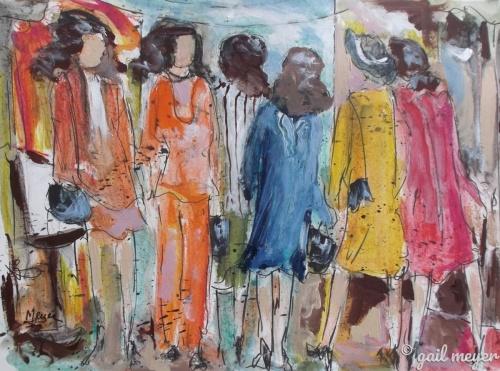 Shopping Frenzy by gail meyer