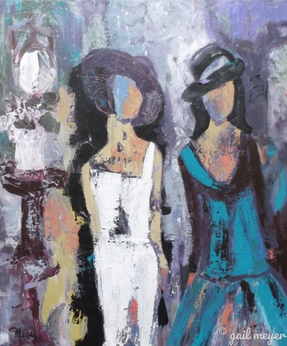 French Quarter Ladies by gail meyer