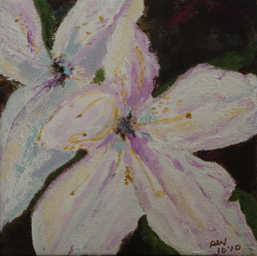 Painting-Bay Lily by Sandy Valentine