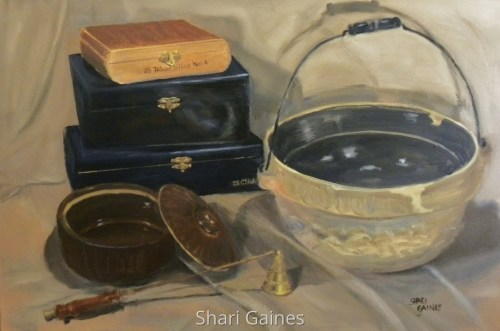 Still Life with Boxes and Bowls