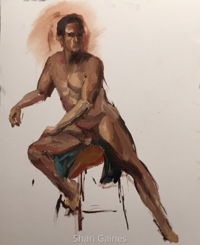 Seated Male  by Shari Gaines Artwork
