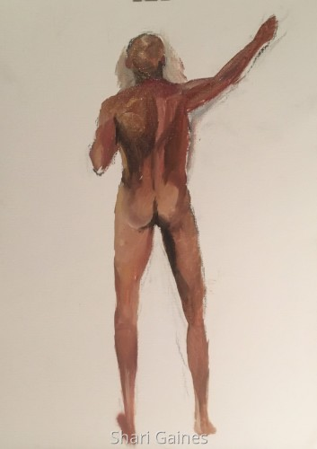 40 minute pose from a live model