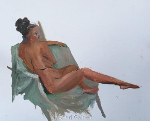 Seated Female in a Classic Elegant Pose