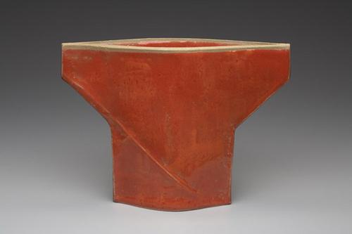 Orange T Vase