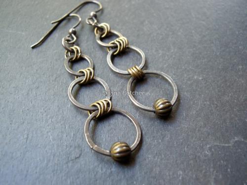 earrings. . . sterling silver