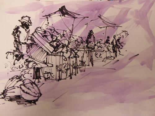 vendor in purple