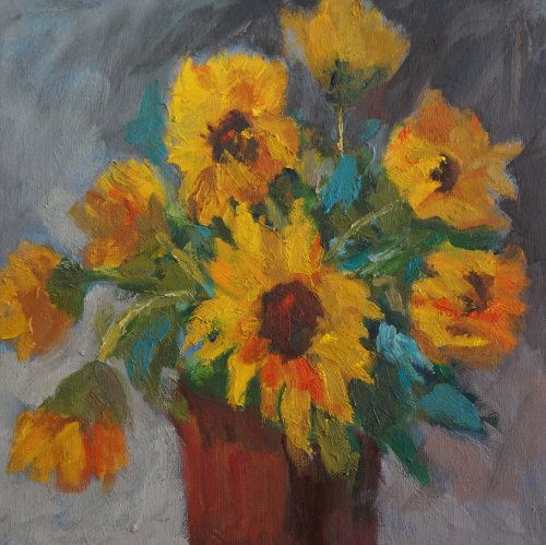 Sunflowers Still Life by Gayle Lewis