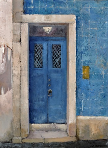 ENTER BY THE BLUE DOOR
