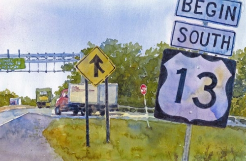 route 13 sign (large view)