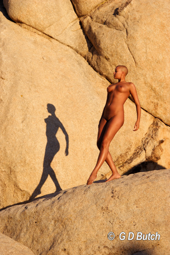 The Lady, the Rocks and the Shadow. by Photographs by George D Butch