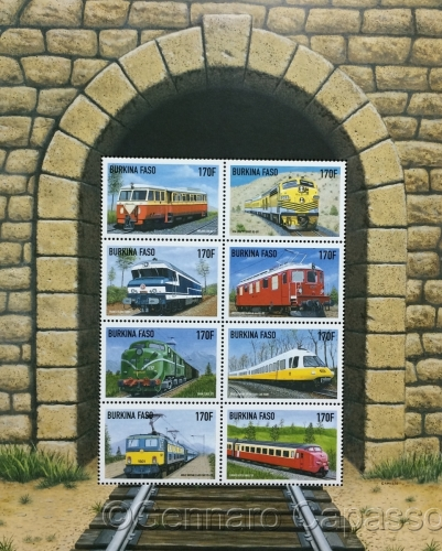 Stamps of Trains