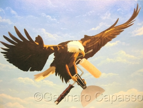 Eagle with Painter tools