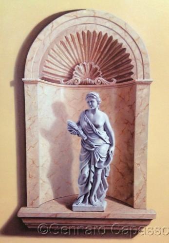 Statue in Niche by Gennaro Capasso