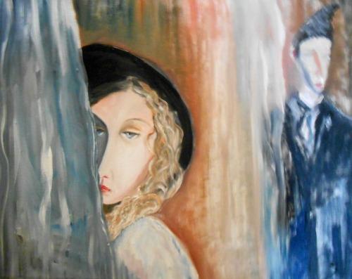 Girl Behind the Curtain