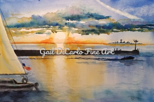 Sundown At Olcott by Gail DiCarlo