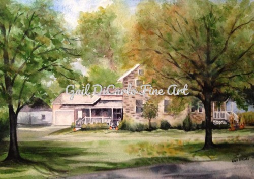 Old Stone Farmhouse by Gail DiCarlo