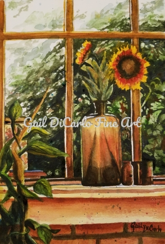 """Glowing Sunflower"" by Gail DiCarlo"