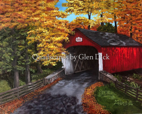 Bucks County Covered Bridge by Quadscapes by Glen Dick