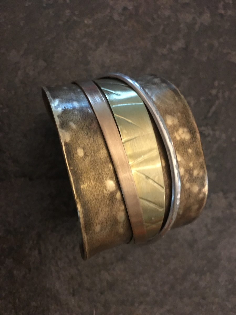 Brass cuff collection (large view)
