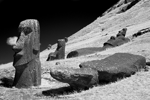 Moai at the Quarry II, Easter Island (large view)
