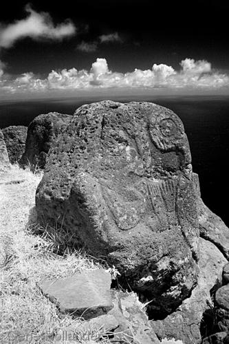 Petroglyphs, Orongo Village, Easter Island (large view)