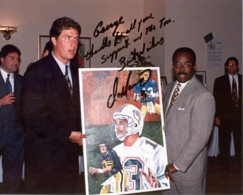 Former Miami Dolphin Quarterback Dan Marino and George Gadson