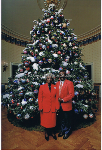 George Gadson and Mother, Annie Gadson at the White House-2008
