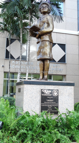 Kathleen Cooper Wright Statue
