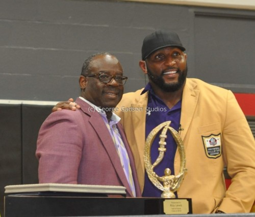 George Gadson and , retired Baltimore Ravens Linebacker, Hall-of-Famer Ray Lewis