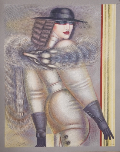 Foxy Lady~Shimon Okshteyn  by George Mayers Contemporary Russian & American Fine Art
