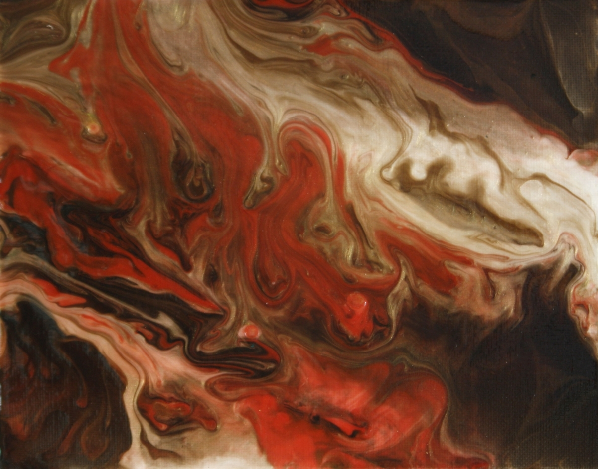 Molten Fire painting by Ginny Gaura (large view)