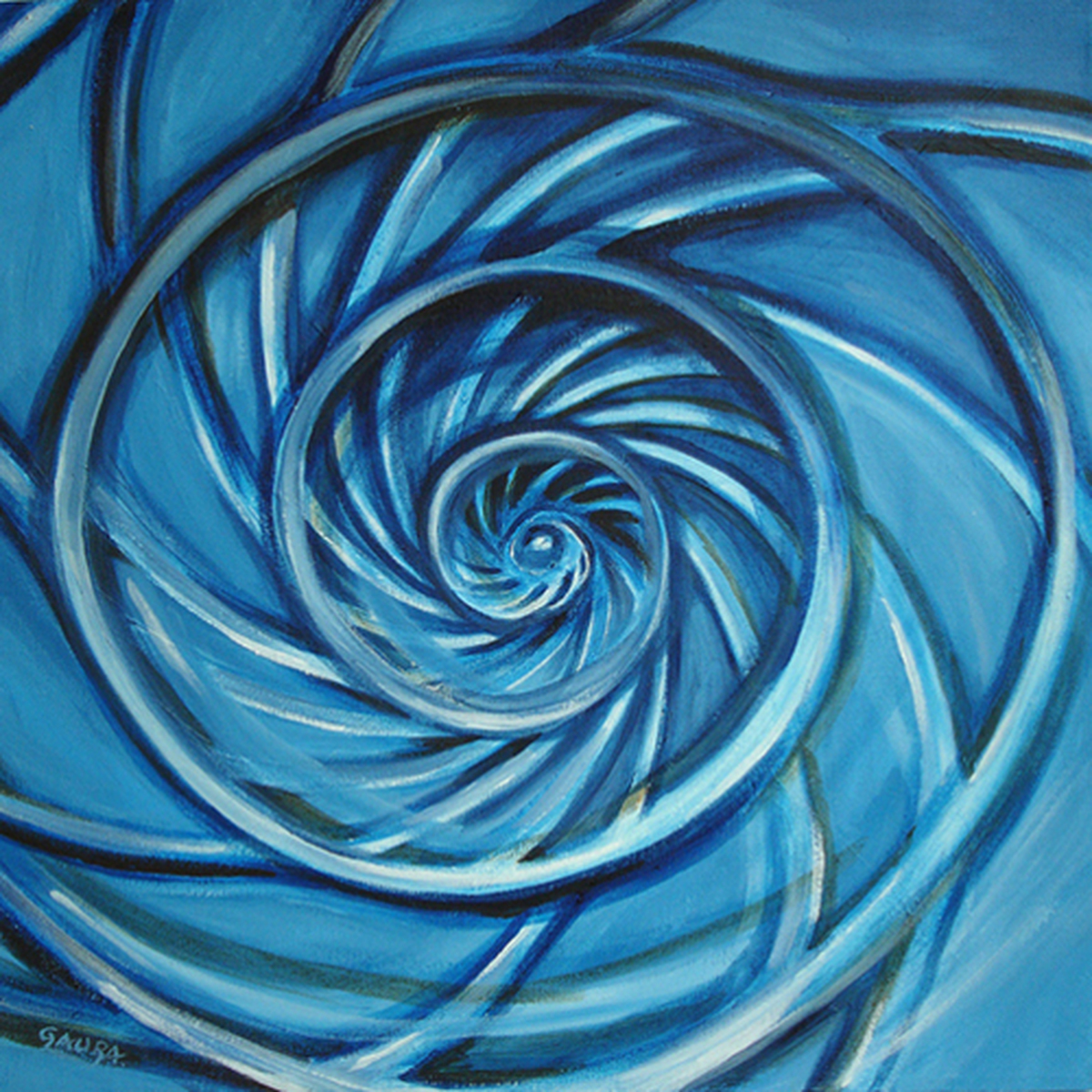 Blue Spiral (large view)