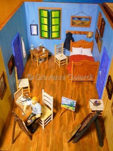 "Mixed Media : ""Van Gogh Bedroom View"" (Original Art By"