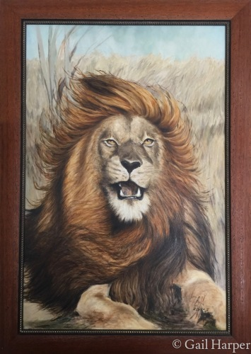Lion by Gail Harper - Art Gallery Sayville, NY