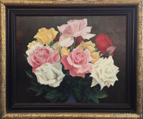 A DOZEN ROSES by Gail Harper - Art Gallery Sayville, NY