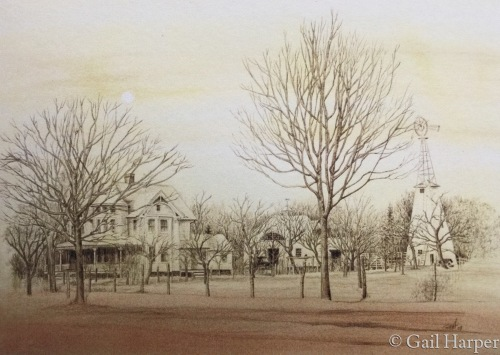 Sayville, turn of last century by Gail Harper - Art Gallery Sayville, NY