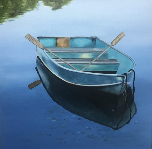 Blue Rowboat, Morning