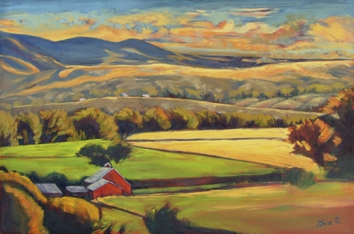 North Fork Panorama by Gina Grundemann, Colorado Painter